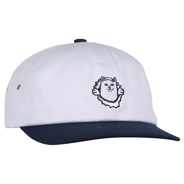RIPNDIP Кепка Nermamaniac 6 Panel White / Navy