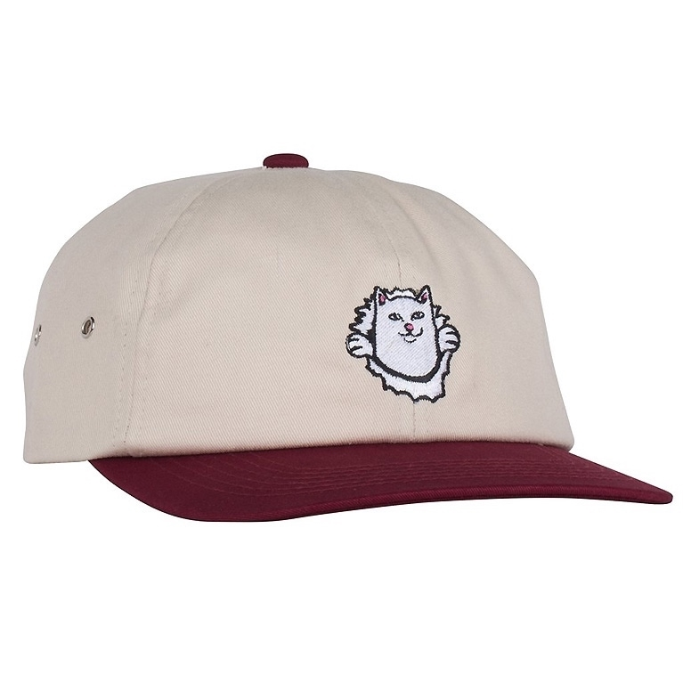 RIPNDIP Кепка Nermamaniac 6 Panel Tan / Burgundy