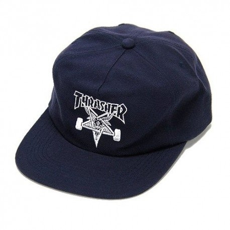 Бейсболка THRASHER SKATE GOAT WOOL BLEND SNAPBACK (NVY) NEW