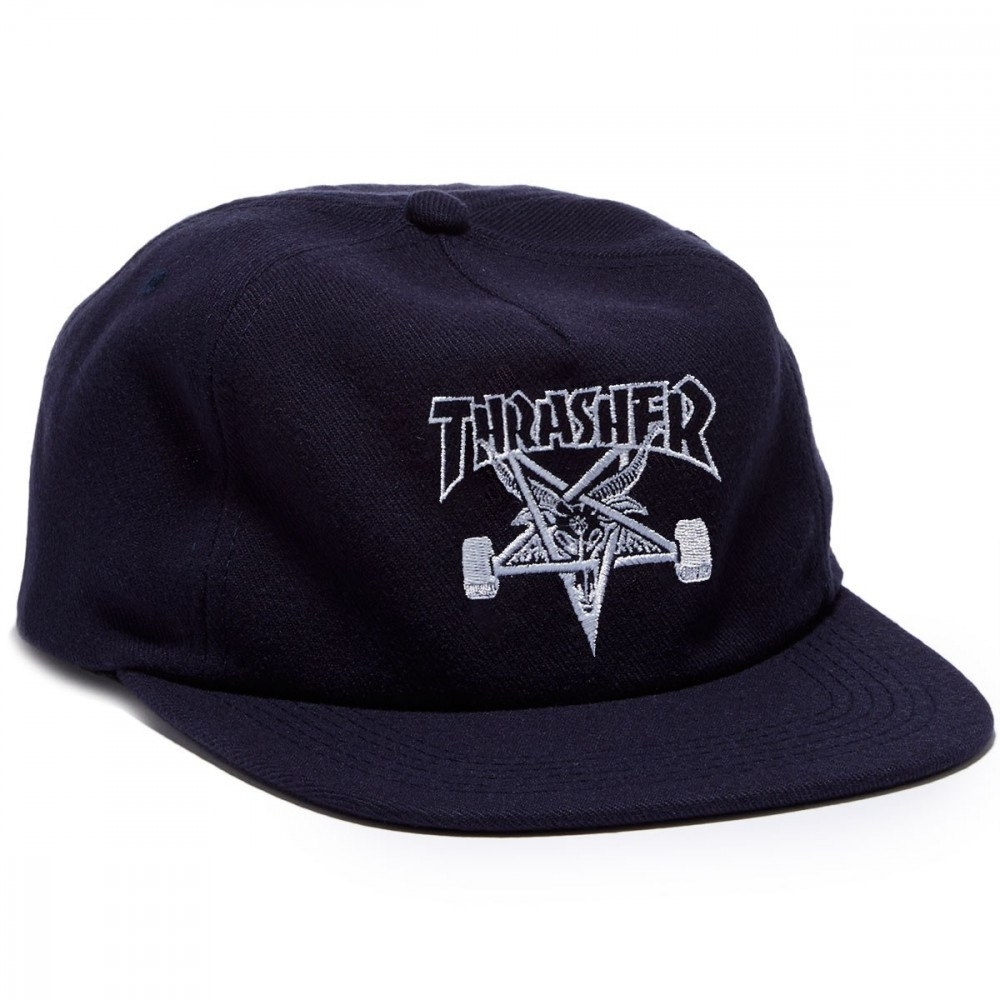 Кепка Thrasher skategoat wool blend snapback navy blue