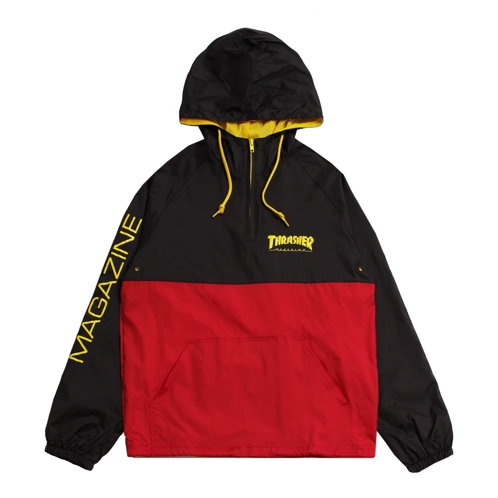 Thrasher анорак MAG LOGO ANORAK black/red