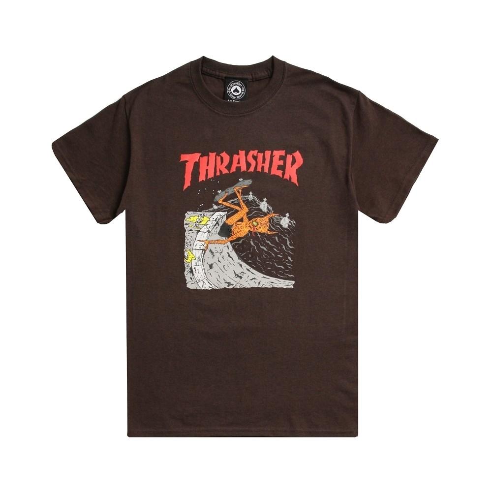 Thrasher футболка NECKFACE INVERT S/S brown