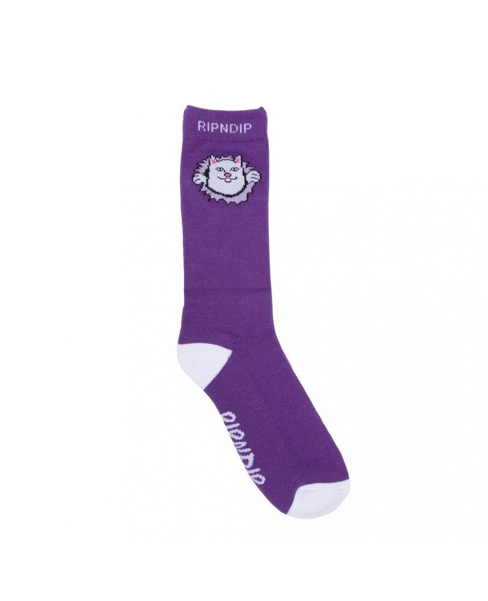 RIPNDIP Носки Nermamaniac Socks Purple