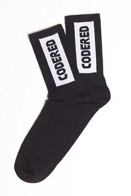Носки высокие Vertical Sock Черный/Белое Лого