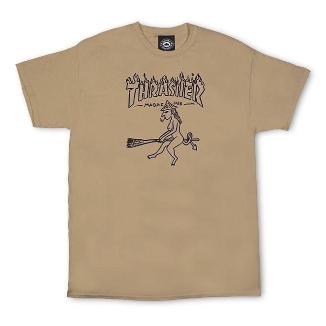 Thrasher футболка WITCH S/S TAN - фото 13847