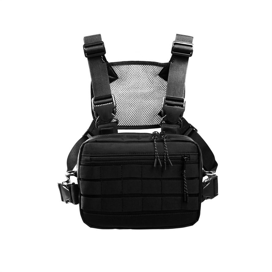Нагрудная сумка ТАЙНА таслан черная - фото 17866