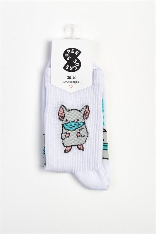 Носки SUPER SOCKS Мышка в маске - фото 28188