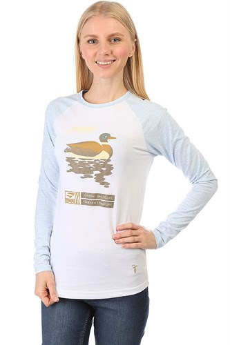 Лонгслив ЗАПОРОЖЕЦ Утка женский (Белый (Белый/Голубой) - фото 6695