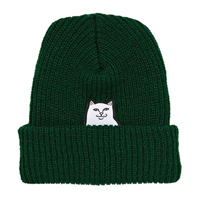 Шапка RIPNDIP Lord Nermal Rib Beanie Hunter Green
