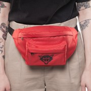 Поясная сумка ЮНОСТЬ™ «Кот» v.02 - лого (Красный)