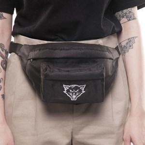 Поясная сумка ЮНОСТЬ™ «Кот» v.02 - лого (Черный)