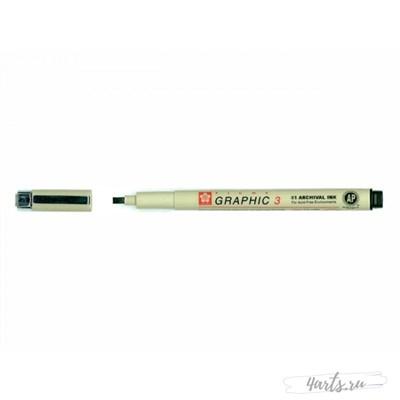 Ручка капилярная Pigma Graphic 3 Черный 3.0мм