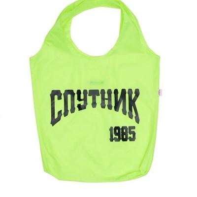 Сумка СПУТНИК1985. лого лайм