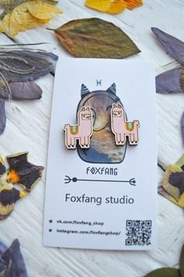 FoxFang сережки альпаки