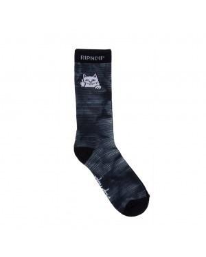 RIPNDIP носки Peeking Nerm Socks Black / White Dye