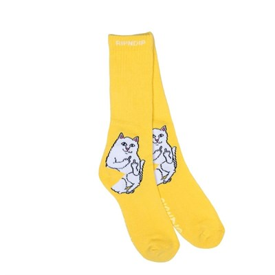 RIPNDIP носки Lord Nermal Socks Yellow