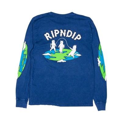 RIPNDIP Лонгслив Flat L/S Blue Mineral Wash