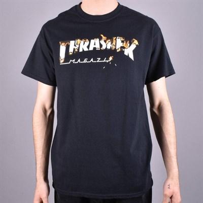 Thrasher футболка INTRO BURNER S/S BLACK