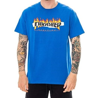 Thrasher футболка RIPPED S/S ROYAL BLUE