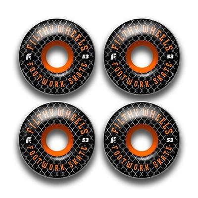 Комплект колес Footwork FILTHY BLACK (53 мм 85A Форма Classic )