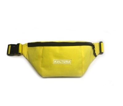 "Поясная сумка КУЛЬТУРА ""logo"", желтый"