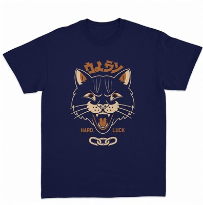 Футболка Oldy Hell Cat синий