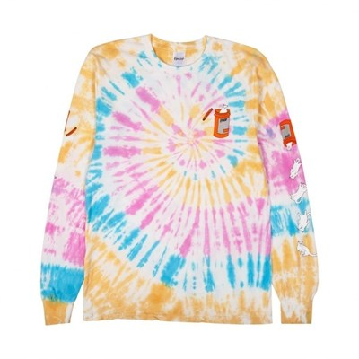 Лонгслив Ripndip Nermal Pills LS Gold Rainbow Wash