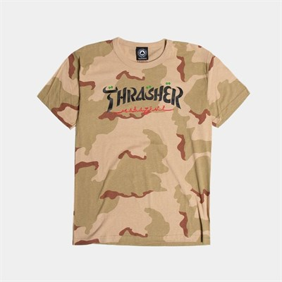 Thrasher футболка CALLIGRAPHY S/S DESERT CAMO