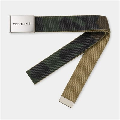 Carhartt WIP Ремень Clip Belt Chrome CAMO LAUREL.
