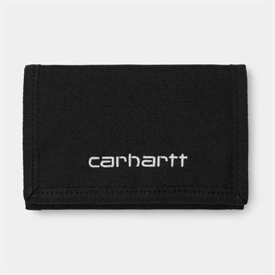 Carhartt WIP Бумажник Payton Wallet BLACK / WHITE.