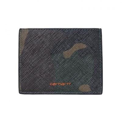 Carhartt WIP Визитница Coated Card Holder CAMO LAUREL / ORANGE.