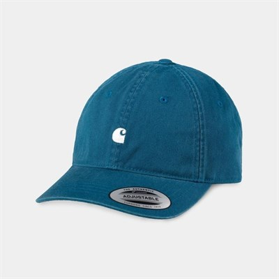 Carhartt WIP Кепка Madison Logo Cap MOODY BLUE / WAX