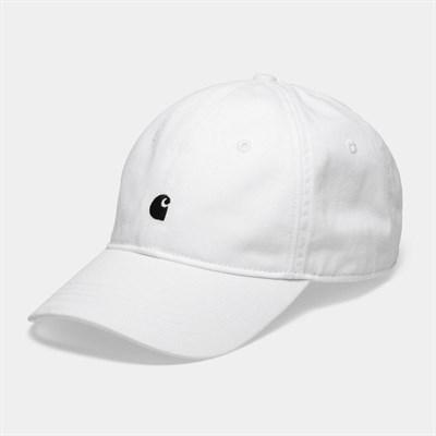 Carhartt WIP Кепка Madison Logo Cap WHITE / DARK NAVY