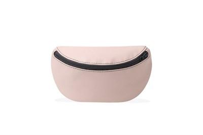 Никита Грузовик сумка на пояс из экокожи розово - бежевая глянцевая