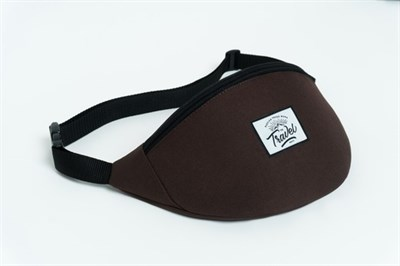 Travel поясная сумка logo brown