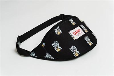 Oldy поясная сумка chineese cat black