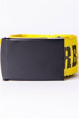 Ремень urban classics tb2280 Jaquard Logo Belt blk/yellow/blk