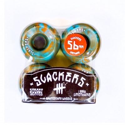 "Колеса SLACKERS street series ""stoner"" синий и оранжевый, 100А/56мм"