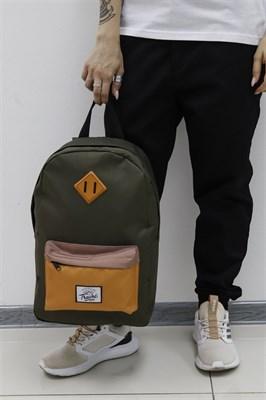 Рюкзак Travel biege/orange pocket khaki
