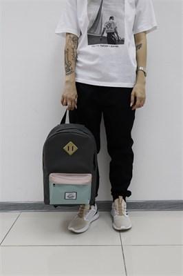 Рюкзак Travel biege/mint pocket grey