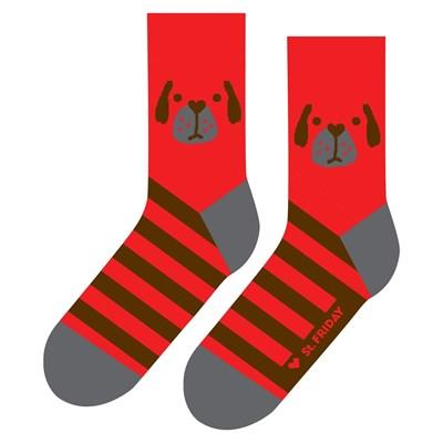 Носки St. Friday socks Собака Неулыбака красный
