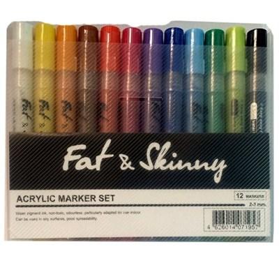 Fat&Skinny набор маркеров акриловых 5 мм / 2 мм main 12 шт