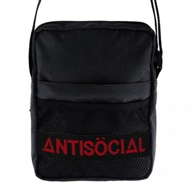 Сумка Anti Social Messenger Bag Black-Red