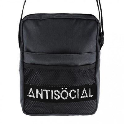 Сумка Anti Social Messenger Bag Black-White