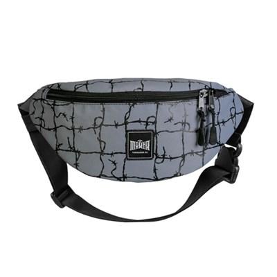 Поясная сумка BLOCK-P Сер./Колючка чер