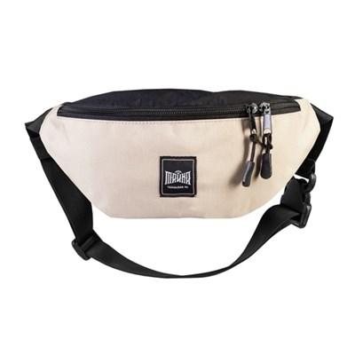 Поясная сумка BLOCK бежевый-черный таслан