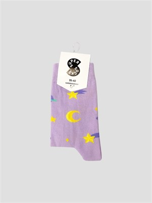 Носки SUPER SOCKS космик Фиолетовый