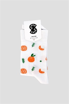 Носки SUPER SOCKS мандаринка Белый