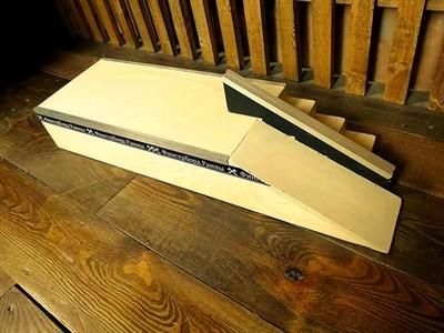 ФБР - деревянные фигуры для фингербординга Бокс с лестницей +rail + kicker