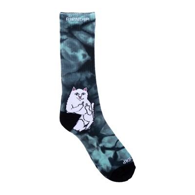 RIPNDIP Носки Lord Nermal Socks Green Tie Dye